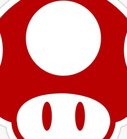 Super Mario Bros Mushroom Logo Sticker