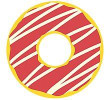 Red Stripe Donut Photographic Print