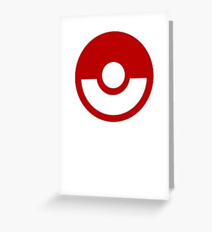 Pokemon Logo Greeting Card