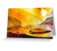 Gold Drops Greeting Card