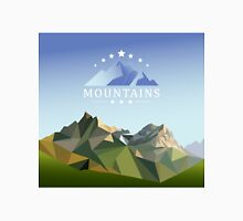 mountain low-poly style illustration Unisex T-Shirt