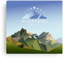 mountain low-poly style illustration Canvas Print