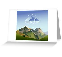 mountain low-poly style illustration Greeting Card