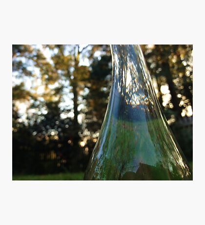 Distorted bottle Photographic Print