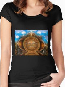 The Time Bender's Portal Women's Fitted Scoop T-Shirt