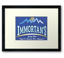 Immortan's Spring Water Framed Print