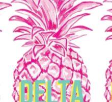 Pineapple Delta Delta Delta Sticker
