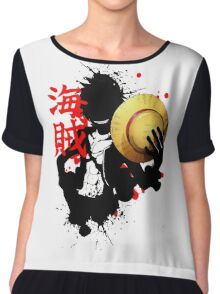 One Piece - Luffy (Pirate Kanji) Chiffon Top