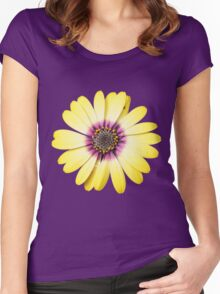 Purple and Gold Women's Fitted Scoop T-Shirt