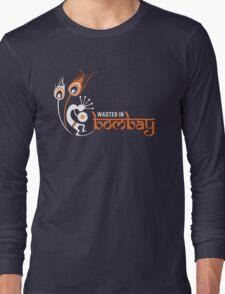 Wasted In Bombay - Orange Logo Promo Long Sleeve T-Shirt