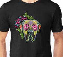 Mastiff in Fawn - Day of the Dead Sugar Skull Dog Unisex T-Shirt
