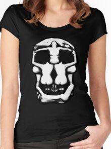 DALI SKULL Women's Fitted Scoop T-Shirt