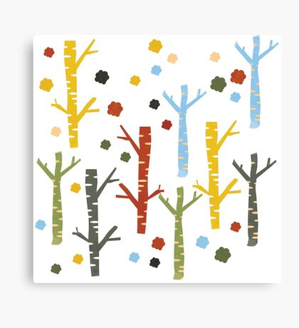 woodland forest Canvas Print