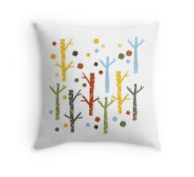 woodland forest Throw Pillow