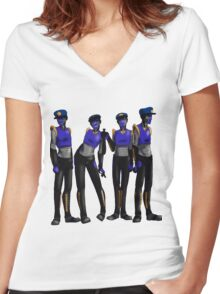 S4f37y Droids Women's Fitted V-Neck T-Shirt