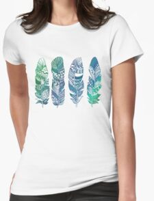 Never too many Feathers Womens Fitted T-Shirt
