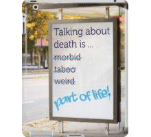 Talk About Death iPad Case/Skin