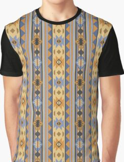 Southwestern Design Blue Gray Gold Graphic T-Shirt