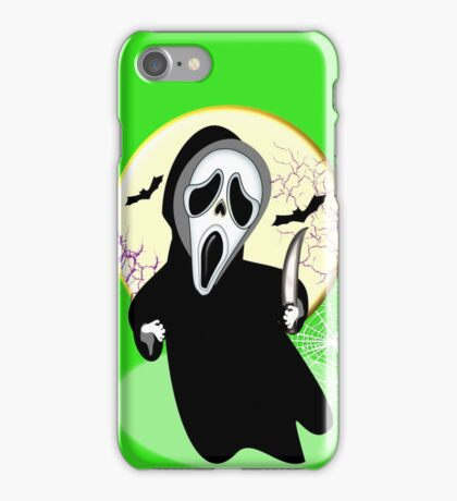 Haunting Scary Screaming Ghost Face Horror Graphic iPhone Case/Skin