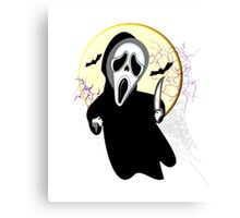 Haunting Scary Screaming Ghost Face Horror Graphic Canvas Print