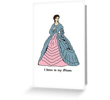 Victorian Lady With iPhone Greeting Card