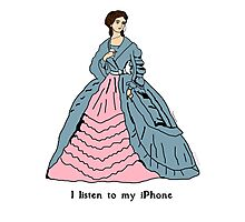 Victorian Lady With iPhone Photographic Print