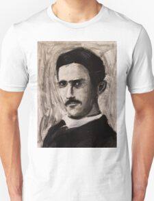 Nikola Tesla charcoal drawing Unisex T-Shirt