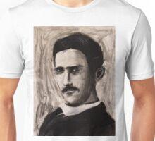 Nikola Tesla charcoal drawing Unisex T-Shirt