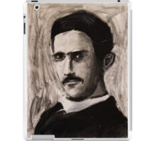 Nikola Tesla charcoal drawing iPad Case/Skin
