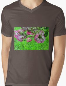Pink roses in the garden. natural background. Mens V-Neck T-Shirt