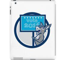 Vote 2016 Democrat Donkey Mascot Circle Cartoon iPad Case/Skin