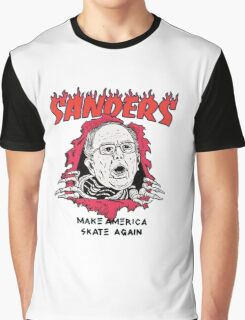 Bernie Sanders - Make America Skate Again Graphic T-Shirt