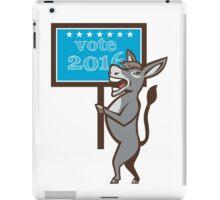 Vote 2016 Democrat Donkey Mascot Cartoon iPad Case/Skin