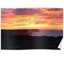 Bunda Cliffs Sunrise Nullarbor N.P Poster