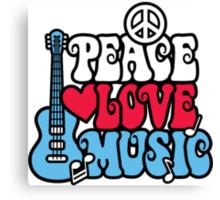 Patriotic Peace Love Music Canvas Print