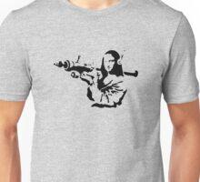 Banksy Mona Lisa Bazooka funny Unisex T-Shirt
