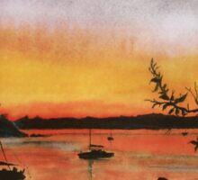 Sunset at Shoal Bay, Australia Sticker