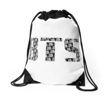 BTS/Bangtan Boys Logo/Font + Jin Drawstring Bag