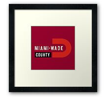 Miami-Wade County Framed Print