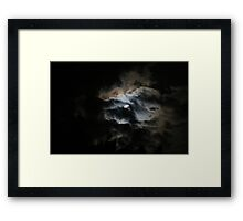 Once in a blue Moon - Rare phenomenon Framed Print