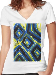 The Abstract One Women's Fitted V-Neck T-Shirt