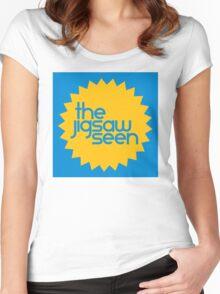 "The Jigsaw Seen ""Sunburst"" graphic Women's Fitted Scoop T-Shirt"