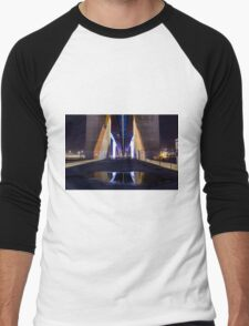 Underneath Bolte Bridge with reflection Men's Baseball ¾ T-Shirt