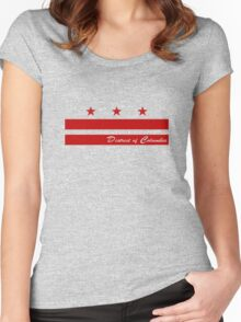 District of Columbia Washington DC Flag Capital logo Women's Fitted Scoop T-Shirt