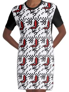 Ring Side Graphic T-Shirt Dress