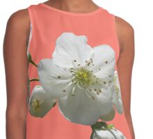 cherries in blosssom on peach echo Contrast Tank