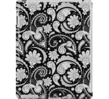 Cute black white paisley patterns iPad Case/Skin