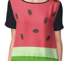 Watermelon Sweater Chiffon Top