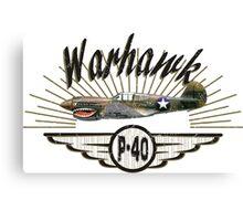 Warhawk P-40 Canvas Print