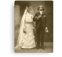 A marriage not made in heaven Canvas Print